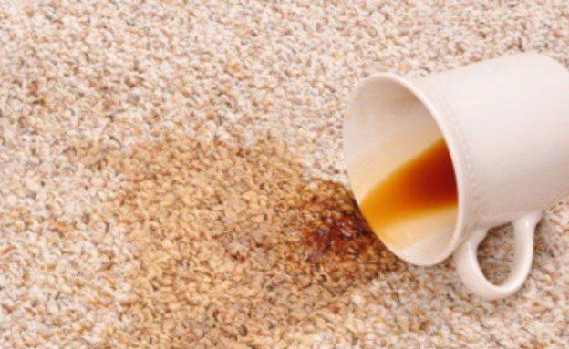 כתמי קפה בניקוי שטיחים מקיר לקיר