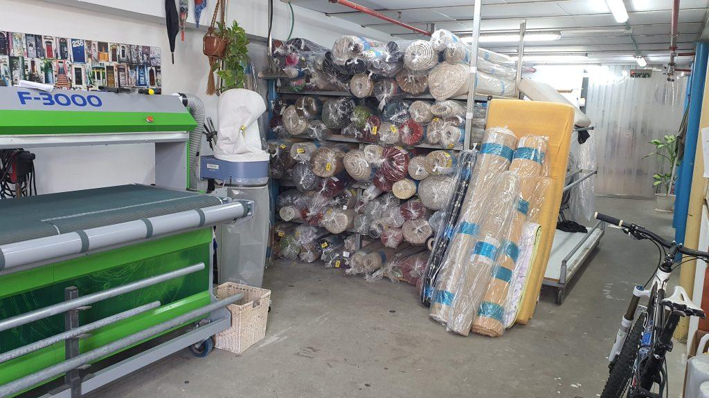 ניקוי שטיחים במפעל ליד נתניה