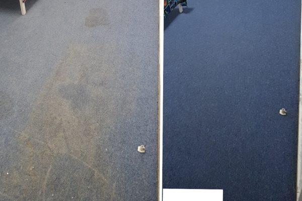 שטיח לפני ואחרי ניקוי